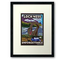 Visit Loch Ness - Brown Framed Print