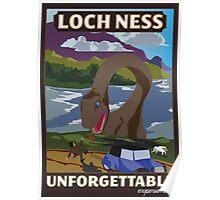 Visit Loch Ness - Brown Poster