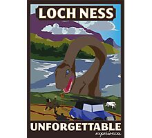Visit Loch Ness - Brown Photographic Print