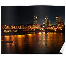 portland lit up at night Poster