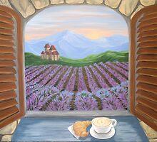 Lavender Croissant by Lynn Wright