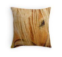 Golden Horse Throw Pillow