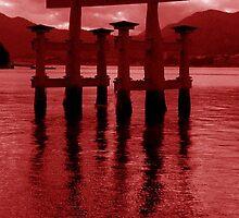 Miyajima torii gate by LINDA MAHER