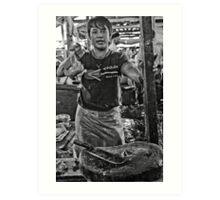 Chicken man - Lower Market, Bukittingi, Sumatra Indonesia Art Print