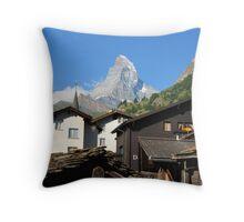 Matterhorn - a view from Zermatt Throw Pillow