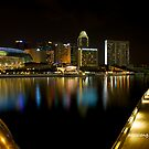 Night Lights of Singapore by dazzleng