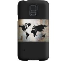 World Map Rusted Metal  Samsung Galaxy Case/Skin