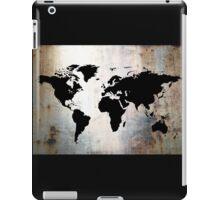 World Map Rusted Metal  iPad Case/Skin