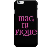 Magnifique! In Sparkly Faux Glitter Pink Text iPhone Case/Skin