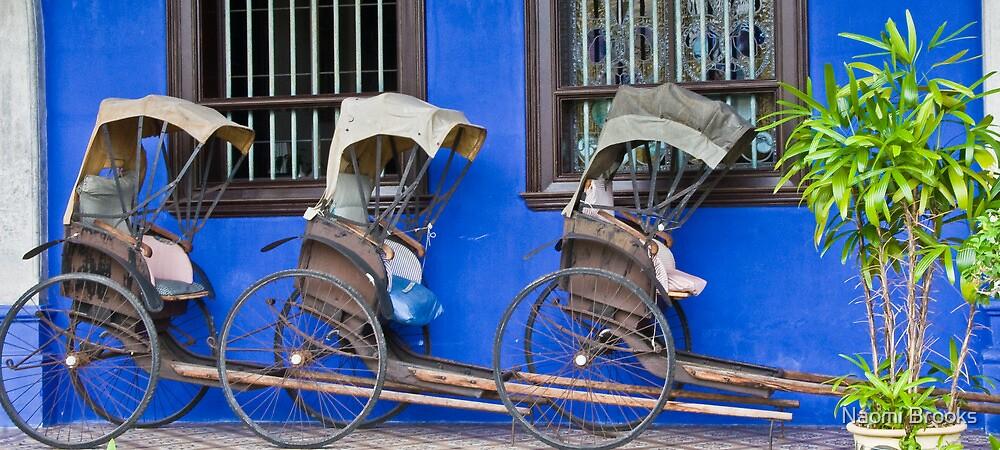 Rickshaws - Penang by Naomi Brooks