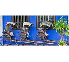 Rickshaws - Penang Photographic Print
