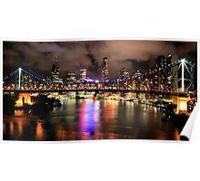 Bridge and city Poster