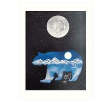 Bearly Home Art Print