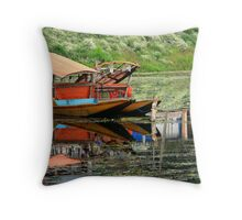 Tranquility of Dal Lake Throw Pillow