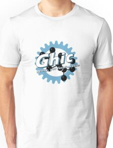 Ghic - geeky, yet fashionable (in blue) Unisex T-Shirt