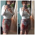 Donna Looks Fabulous in Love Bombed Pencil Skirt by Anthea  Slade