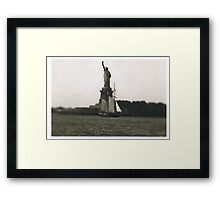 The Dutch arrive in New Amsterdam Framed Print