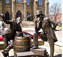 Sculpture in front of St. Dunstan's Basilica, Charlottetown, PEI Canada by Shulie1