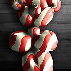 Candy Cane Teddy Bear Balloon by Corbin Adler