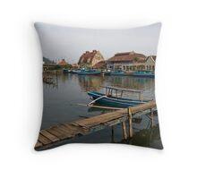 Riverside - Padang, Sumatra Throw Pillow
