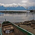Green boat - Lake Maninjau, Sumatra, Indonesia by Naomi Brooks