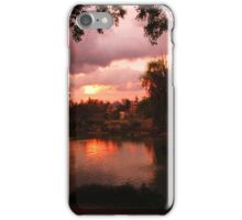 Sunset on the pond  Monument Valley Park CS, CO iPhone Case/Skin