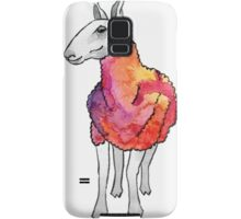 Psychedelic sheep: Blue Faced Leicester, red/violet Samsung Galaxy Case/Skin