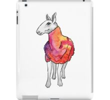 Psychedelic sheep: Blue Faced Leicester, red/violet iPad Case/Skin