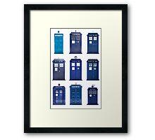 TARDIS Typology Framed Print