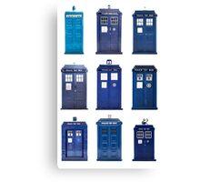 TARDIS Typology Canvas Print
