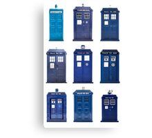 TARDIS Typology Canvas Print
