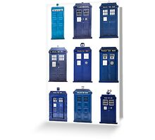 TARDIS Typology Greeting Card