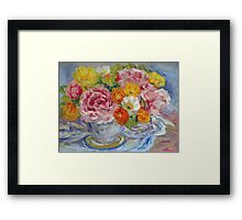 Peonies and Poppies Still Life  Framed Print