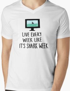 30 Rock- Live Every Week Like It's Shark Week Mens V-Neck T-Shirt