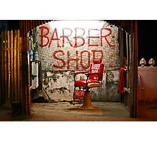 The Barber of Vang Vieng Photographic Print