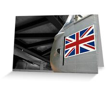 Plane & Flag Greeting Card