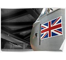 Plane & Flag Poster