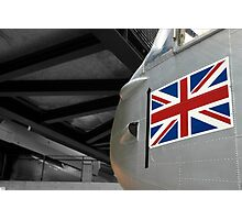 Plane & Flag Photographic Print