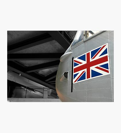 Plane & Flag Photographic Print
