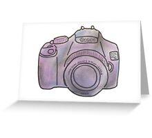 Pastel Camera Greeting Card