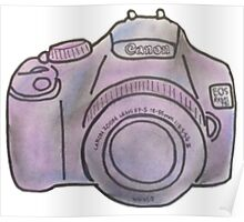 Pastel Camera Poster