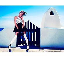 High Fashion Santorini Fine Art Print Photographic Print