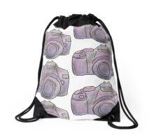Pastel Camera Drawstring Bag