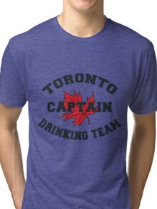 "Toronto Canada ""Drinking Team Captain"" Tri-blend T-Shirt"