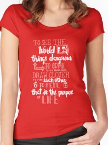 Walter Mitty Life Motto - White Women's Fitted Scoop T-Shirt