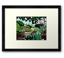 Plein Air in the Garden Framed Print