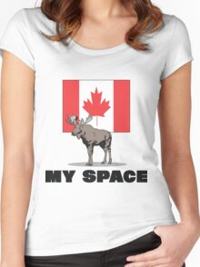 "Canada ""MY SPACE"" Women's Fitted Scoop T-Shirt"