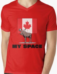 "Canada ""MY SPACE"" Mens V-Neck T-Shirt"