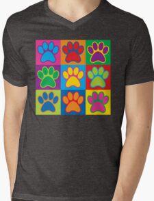 Pop Art Paws Mens V-Neck T-Shirt