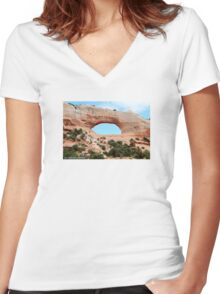 Arches~* Women's Fitted V-Neck T-Shirt